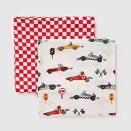 Racing Cars Organic Swaddle Set