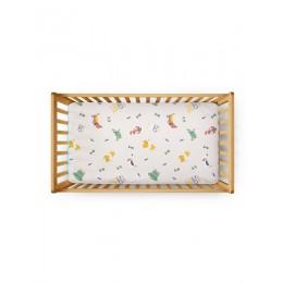 Flat Crib Sheet - Young Wild Free