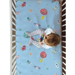 Fitted Crib Sheet - Love You To The Moon