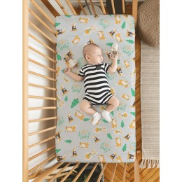 Flat Crib Sheet - Oh Baby