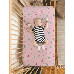 Flat Crib Sheet - No Prob Llama