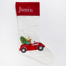 Christmas Truck Luxe Stocking