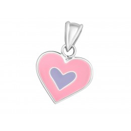 Heart Pendant Pink and Purpple