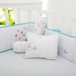 Snuggle Bunny Organic Pillow/Bolster Set