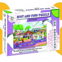 Spot and Find Puzzle–80 Pcs be creative- 2 in 1 puzzle
