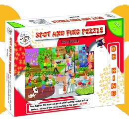 Spot and Find Puzzle–80 Pcs - 2 in 1 puzzle