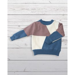Colour block sweater pink and blue