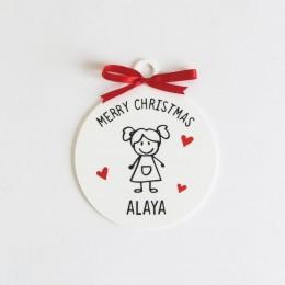 Christmas Doodle Ornament - 1 Person/Set