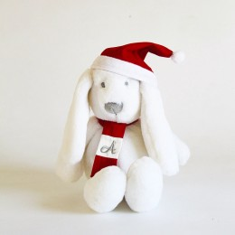 Personalized Christmas Bunny - Red