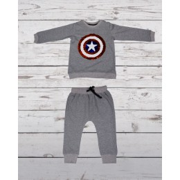 Track suit with captain america patch