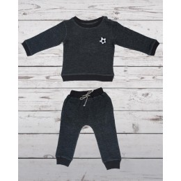 Track suit with football patch