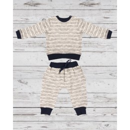 Track Suit with Grey Stripped
