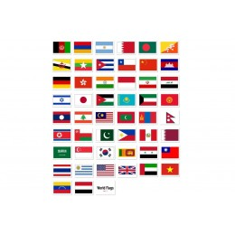 World Flags Flash Cards - 56 Cards