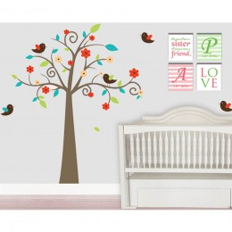 Swirly Tree Wall Stickers