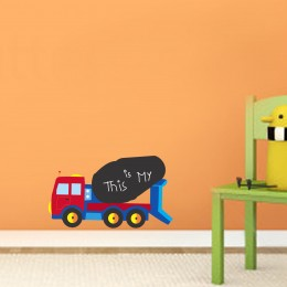 Talk with Chalk Dump Truck : Chalk Decals