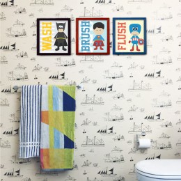Superheroes Washroom Frames