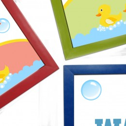 Yellow Duckies Washroom Frames