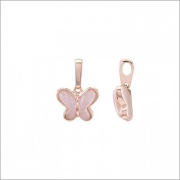 Rose Gold Plating Pink Cute Butterfly Pendant