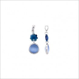 Blue Sapphire And Lavender Stone Earrings