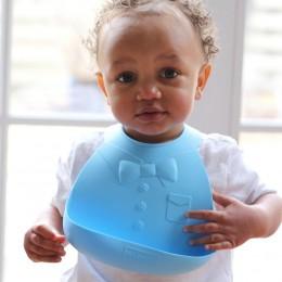Soft Silicone Baby Bib -Blue Boy
