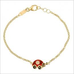 Beetle Enamel Bracelet