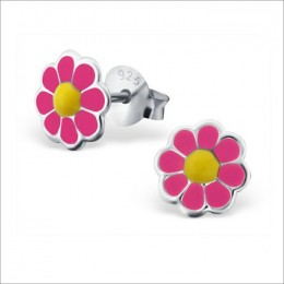 Pink Aster Flower Studs