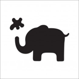 Meal Time Shaped Chalkboard Mat & Coaster - Elephant