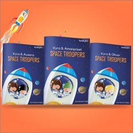 Space Troopers With Stickers Book - Personalized