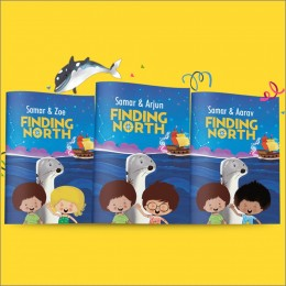 Finding North With Stickers Book - Personalized
