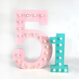 Number Marquee Lights