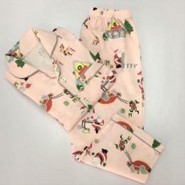 Santa Workshop Pajama Set - Blush Pink