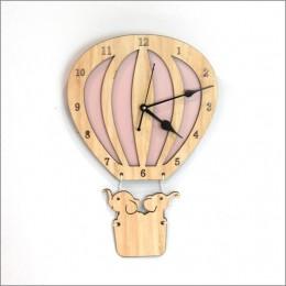 Hot Air Balloon Clock - Light Pink