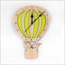 Hot Air Balloon Clock - Green