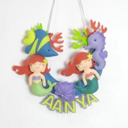 Personalised Mermaid Cot Mobile