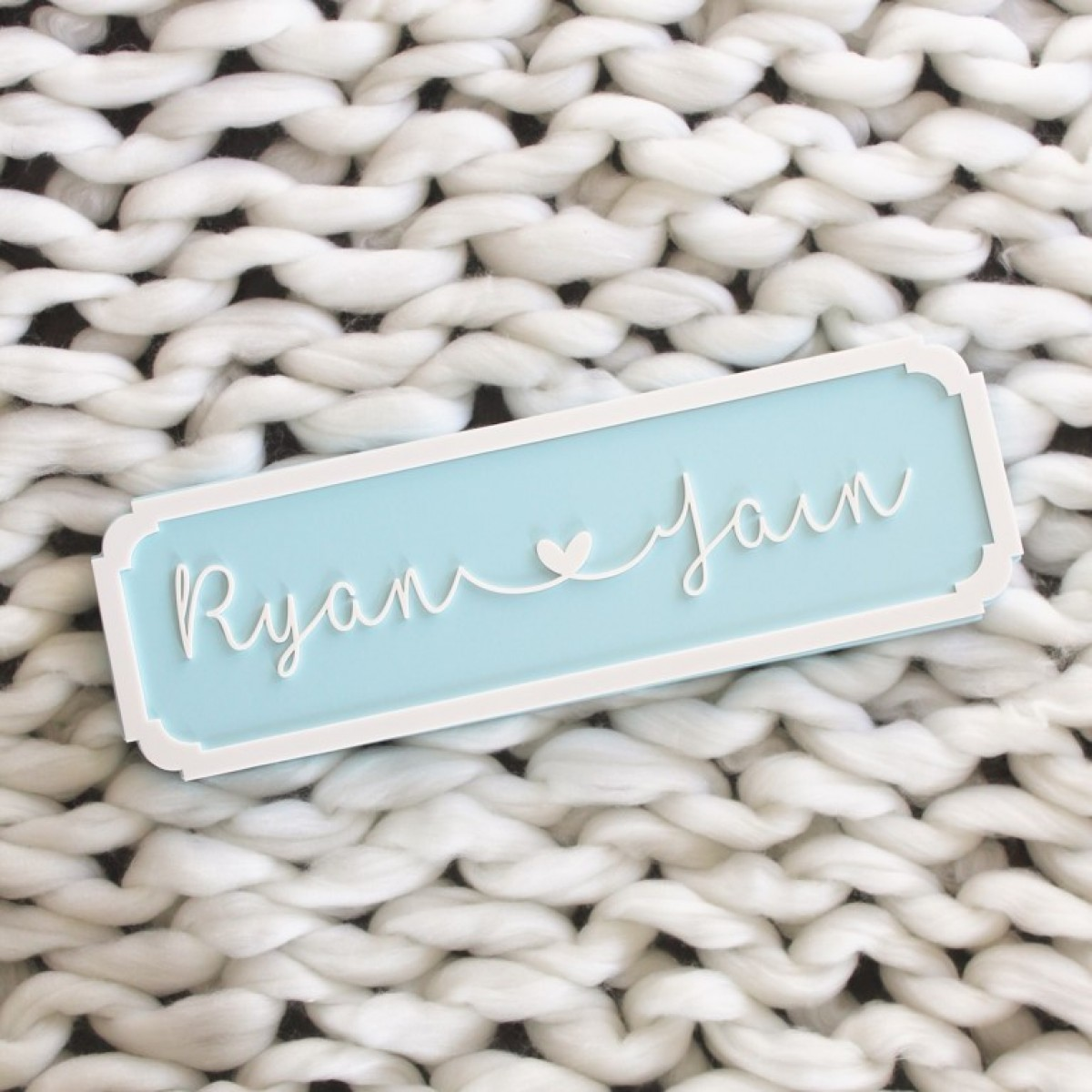 Name Plaque Cursive - Double Name