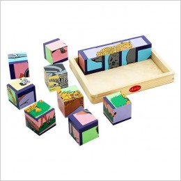 Animal Puzzle Blocks - Wooden Toys