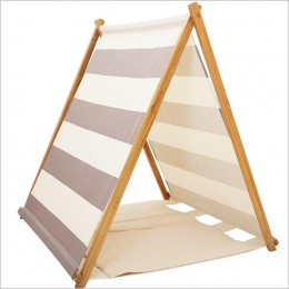 Grey Striped Tent With Matching Mat