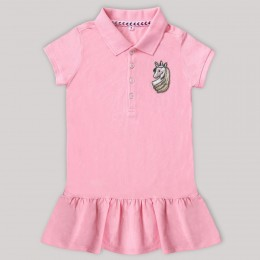 Unicorn Motif Polo Dress