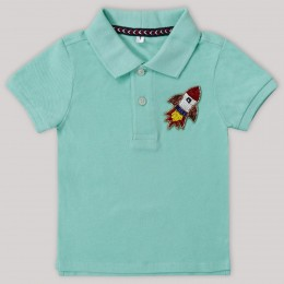 Rocket Motif Polo T-Shirt