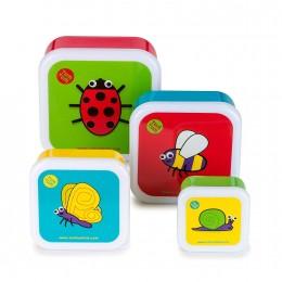 TUM TUM NESTING SNACK BOXES - SET OF 4 - Bugs