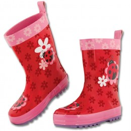 All Over Print Rainboot Ladybug