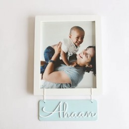Personalized Name Frame - Blue