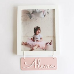 Personalized Name Frame - Pink