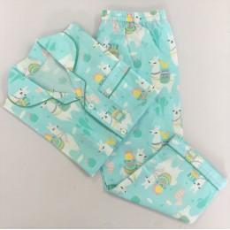 Organic Llama Love Pajama set