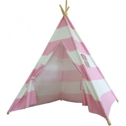 Teepee Tent  - Pink and white striped