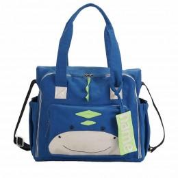Organic Dino Diaper Bag - Personalized