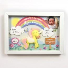 3D Birth Detail Photo Frame