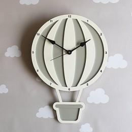 Hot Air Balloon Clock - Grey