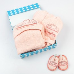 Spa Time New Born Gift Set (Princess) - With Hooded Towel