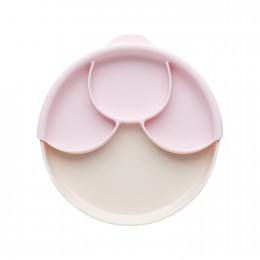 Healthy Meal Suction Plate With Dividers Set - Vanilla & Cotton Candy